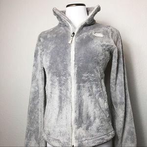 The North Face Jackets & Coats - The North Face fuzzy zip front jacket in gray.